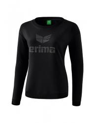 ERIMA Frauen Essential Sweatshirt ESSENTIAL schwarz/grau