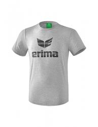 ERIMA Kinder / Herren Essential T-Shirt ESSENTIAL hellgrau melange/schwarz
