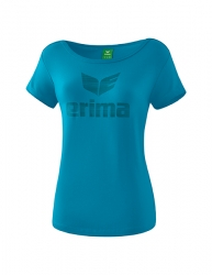 ERIMA Frauen Essential T-Shirt ESSENTIAL oriental blue/colonial blue