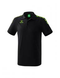 ERIMA Kinder / Herren Essential 5-C Poloshirt ESSENTIAL 5-C schwarz/green gecko