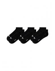 ERIMA 3-Pack Füßlinge schwarz