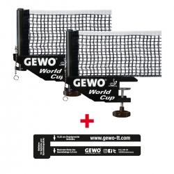 GEWO Set 2x Netz World Cup + 1x Netzlehre (+3% Zusatzrabatt)