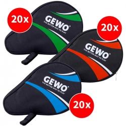 GEWO Set 3x 20 pro Farbe Rundhülle Master mit Ballfach