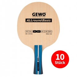 GEWO Set 10x Holz ALLround Basic (8x konkav+2x gerade)