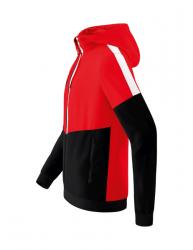 ERIMA Herren Squad Tracktop Jacke mit Kapuze SQUAD rot/schwarz/weiß