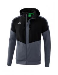 ERIMA Herren Squad Tracktop Jacke mit Kapuze SQUAD schwarz/slate grey