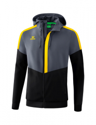 ERIMA Herren Squad Tracktop Jacke mit Kapuze SQUAD slate grey/schwarz/gelb