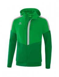 ERIMA Herren Squad Tracktop Jacke mit Kapuze SQUAD fern green/smaragd/silver grey