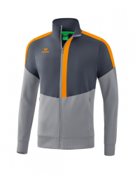 ERIMA Kinder / Herren Squad Worker Jacke SQUAD slate grey/monument grey/new orange