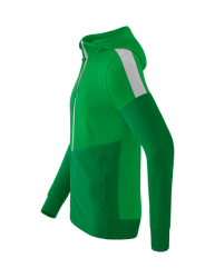 ERIMA Kinder / Herren Squad Trainingsjacke mit Kapuze SQUAD fern green/smaragd/silver grey