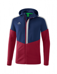 ERIMA Squad Trainingsjacke mit Kapuze new navy/bordeaux/silver grey