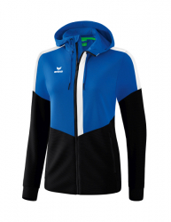 ERIMA Damen Squad Trainingsjacke mit Kapuze new royal/schwarz/weiß