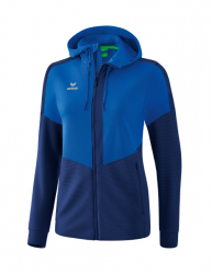 ERIMA Frauen Squad Trainingsjacke mit Kapuze SQUAD new royal/new navy