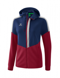 ERIMA Frauen Squad Trainingsjacke mit Kapuze SQUAD new navy/bordeaux/silver grey