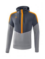 ERIMA Kinder / Herren Squad Kapuzensweat SQUAD slate grey/monument grey/new orange