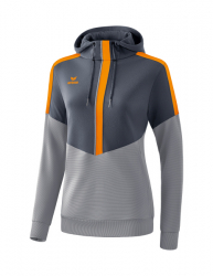 ERIMA Frauen Squad Kapuzensweat SQUAD slate grey/monument grey/new orange