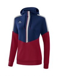 ERIMA Frauen Squad Kapuzensweat SQUAD new navy/bordeaux/silver grey