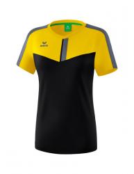 ERIMA Frauen Squad T-Shirt SQUAD gelb/schwarz/slate grey