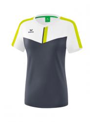 ERIMA Frauen Squad T-Shirt SQUAD weiß/slate grey/bio lime
