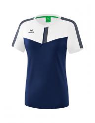 ERIMA Frauen Squad T-Shirt SQUAD weiß/new navy/slate grey