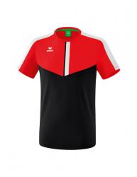 ERIMA Kinder / Herren Squad T-Shirt SQUAD rot/schwarz/weiß