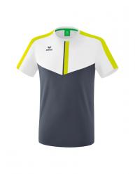 ERIMA Kinder / Herren Squad T-Shirt SQUAD weiß/slate grey/bio lime