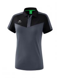 ERIMA Frauen Squad Poloshirt SQUAD schwarz/slate grey
