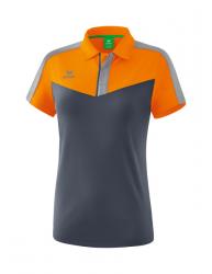 ERIMA Frauen Squad Poloshirt SQUAD new orange/slate grey/monument grey