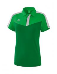 ERIMA Frauen Squad Poloshirt SQUAD fern green/smaragd/silver grey