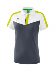ERIMA Frauen Squad Poloshirt SQUAD weiß/slate grey/bio lime