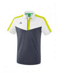 ERIMA Squad Poloshirt weiß/slate grey/bio lime