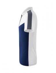 ERIMA Squad Poloshirt weiß/new navy/slate grey