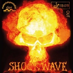 Der Materialspezialist Belag Shockwave, halblange Noppe (Sonderposten)