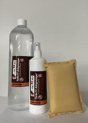 FRIJA Turbo TT-Belagreinigungs-Set, 1000 ml Nachfüllflasche + 250 ml im Pumpzerstäuber + Schwamm