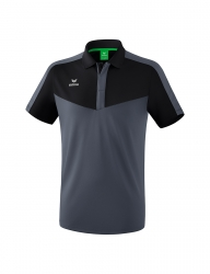ERIMA Herren Squad Poloshirt SQUAD schwarz/slate grey (Sonderposten)