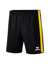 ERIMA Retro Star Shorts schwarz/gelb