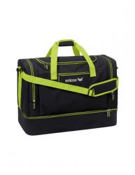 ERIMA Squad Sporttasche mit Bodenfach schwarz melange/lime